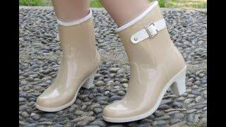 Женские резиновые сапоги - фото - 2018 / Women's rubber boots - photo