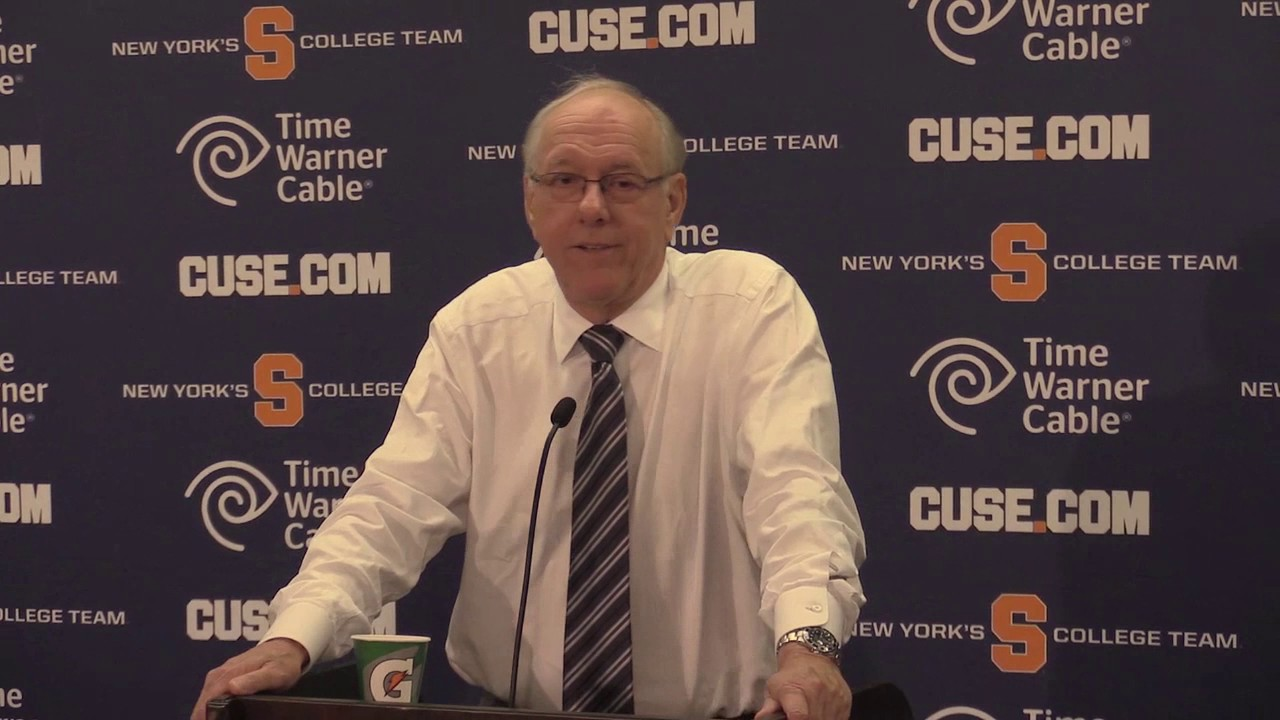 Syracuse Basketball Coach Boeheim Talks About Blowout Win Over Holy Cross