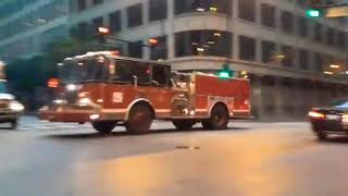Chicago Fire Department Engine 42 ( Spare) Truck 3 Responding