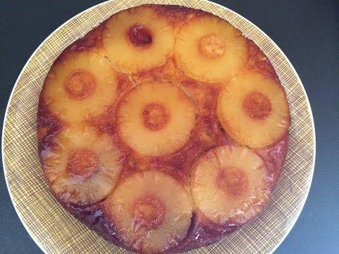 recette-gâteau-ananas-renversé-(peu-sucré)