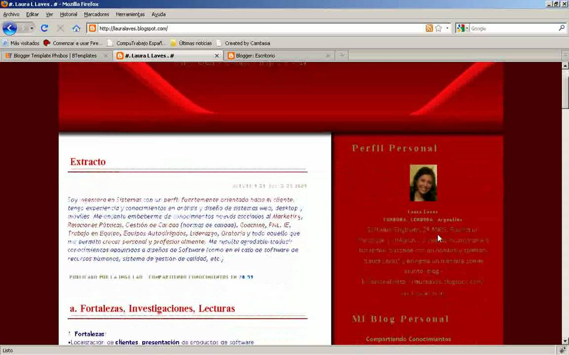 Curriculum web Plantilla - con blogger - YouTube