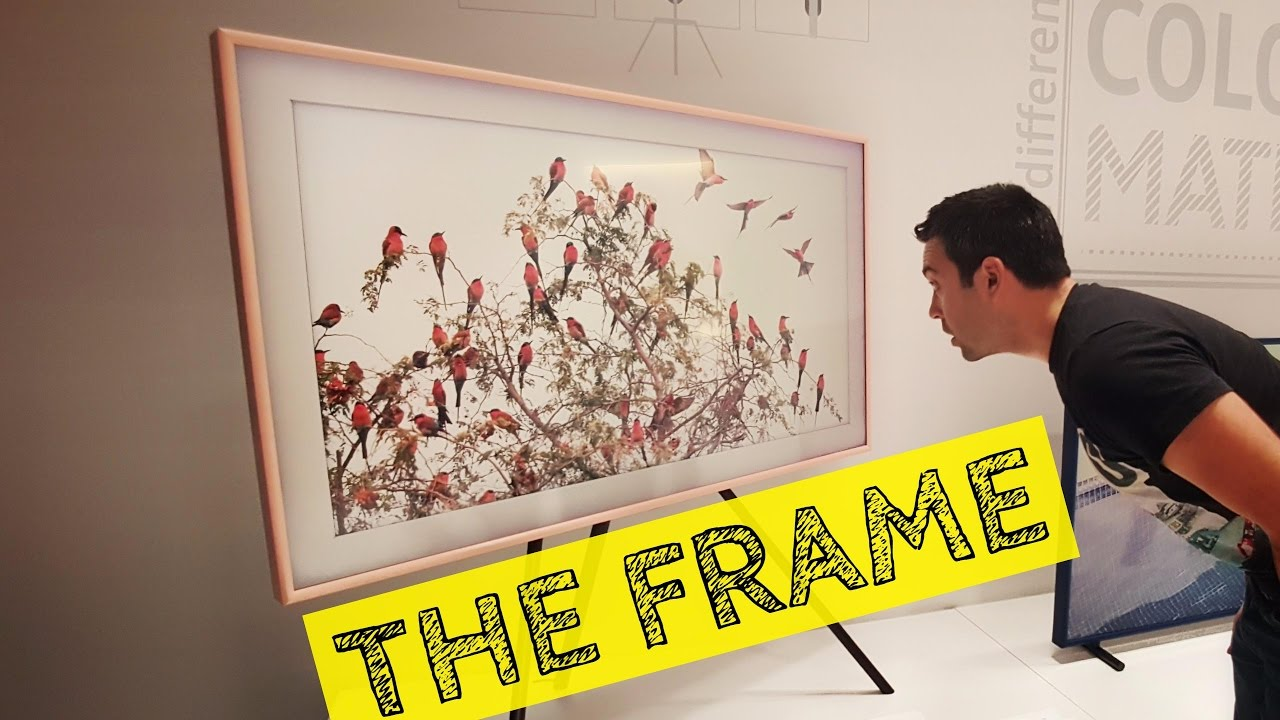 samsung the frame il tv che si crede un quadro youtube. Black Bedroom Furniture Sets. Home Design Ideas