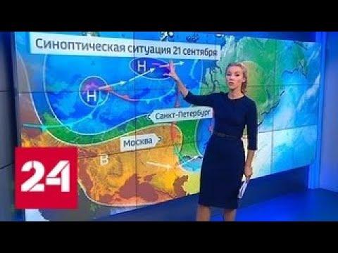"""""""Погода 24"""": аномальное для сентября тепло пойдет на спад - Россия 24"""