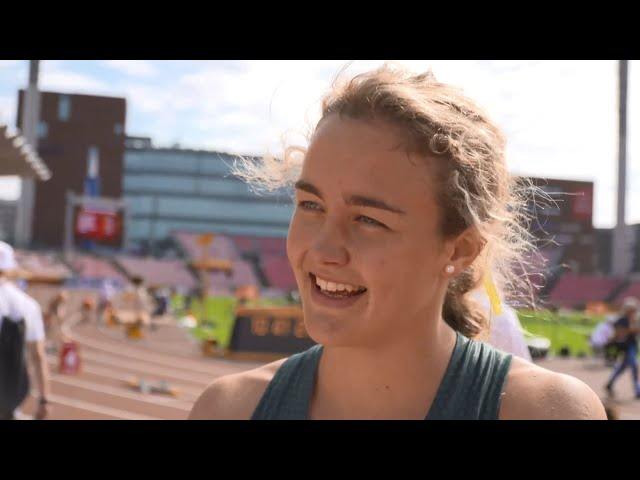 IAAF World U20 Tampere – Zeney Van Der Walt RSA 400M Hurdles Heat 2