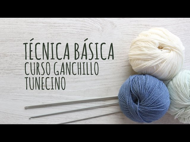 Técnica básica 🥇 CROCHET TUNECINO▷ Crochet Fácil