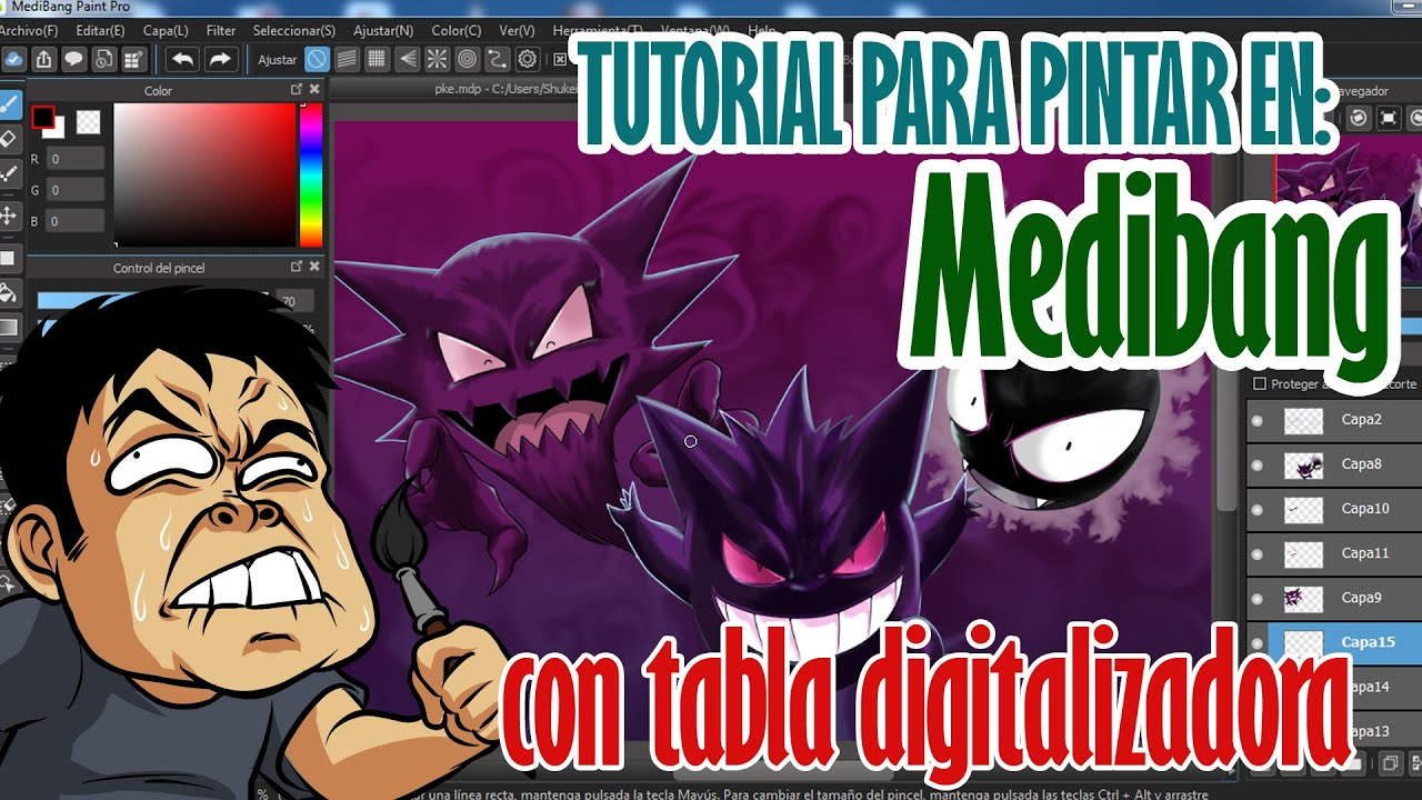 Cómo pintar con tabla digitalizadora en Medibang - YouTube