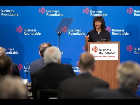 First Lady Michelle Obama Speaks at Business Roundtable