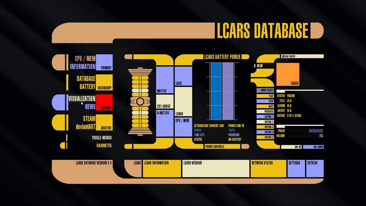 Star Trek Desktop Lcars For Windows Youtube
