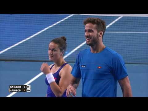 Sensational mixed doubles rally between Australia and Spain - Mastercard Hopman Cup 2017