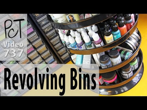 Revolving Storage Bins for Your Craft Studio