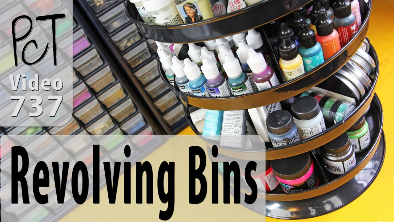 Revolving Storage Bins For Your Craft Studio