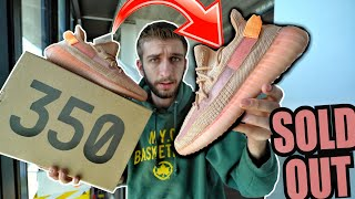 FIGHT at YEEZY RELEASE! ADIDAS YEEZY 350 CLAY V2 RELEASE DAY REVIEW!