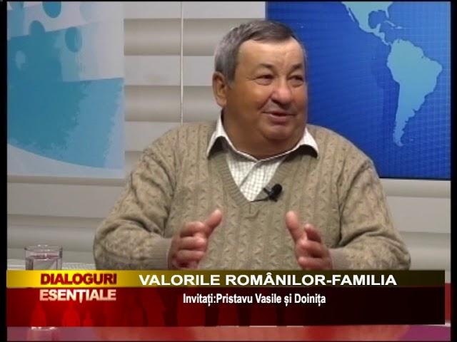 DIALOGURI ESENTIALE:  VALORILE ROMÂNILOR-FAMILIA