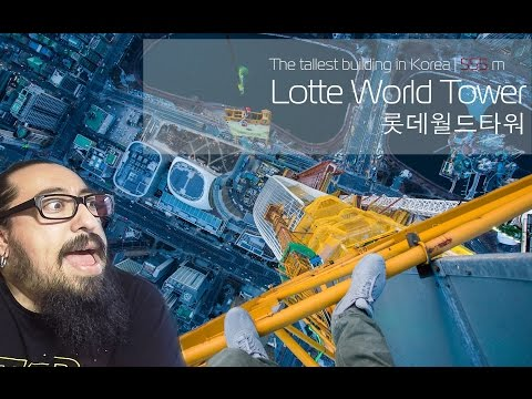 Lotte World Tower (555 meters) REACTION