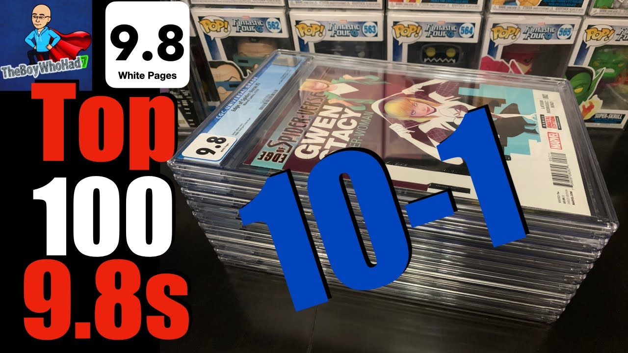 Download The Top 100 9.8s in My Collection! 10-1! Punisher Miles Morales Venom Bullseye Elektra Harley Quinn