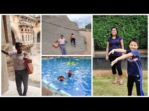 Felt Like a Queen in 1300 AD century | Queen's Bath, Lotus Mahal Hampi Vlog | SreyaandRayan