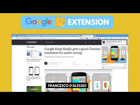 New Google Keep Extension | Chrome - YouTube