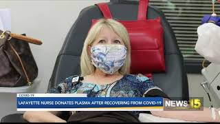 Lafayette nurse gives plasma to save others after learning she caught Covid-19 in February