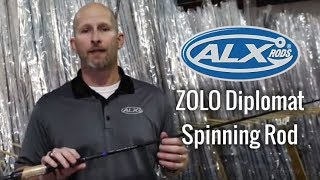 """ALX Rods ZOLO Diplomat: 6'10"""" Spinning, MedLt Power, XFast Action"""