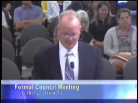 Colorado Springs City Council meeting - Oil drilling and fracking item - July 10, 2012