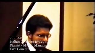 BACH Italian Concerto BWV 971 F Major - Pianist Michel Mananes Live Concert