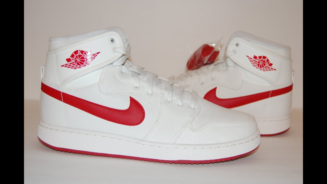 ed1a4fb7bfd9 ... coupon for air jordan 1 ko high timeless canvas sail varsity red youtube  2afeb eadad