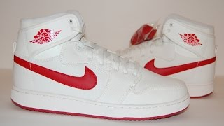 2f04e64d04c63f Air Jordan 1 KO High Timeless Canvas (Sail Varsity Red)