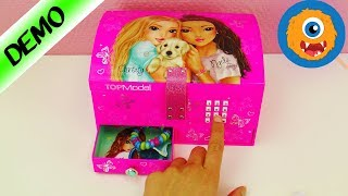TOPMODEL Jewelry Box with Code - Treasure Chest for Bracelets, Necklaces, Makeup & Hair Ties