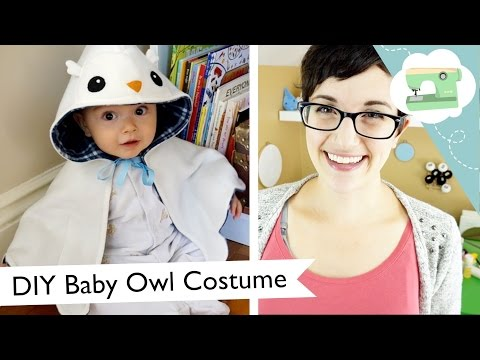 DIY Baby Owl Halloween Costume - Hedwig Hooded Cape | @laurenfairwx