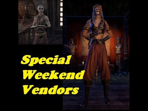 The Elder Scrolls Online Special Weekend Vendors 4/21/17 - 4/23/17