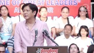 Senator Bongbong Marcos' full speech