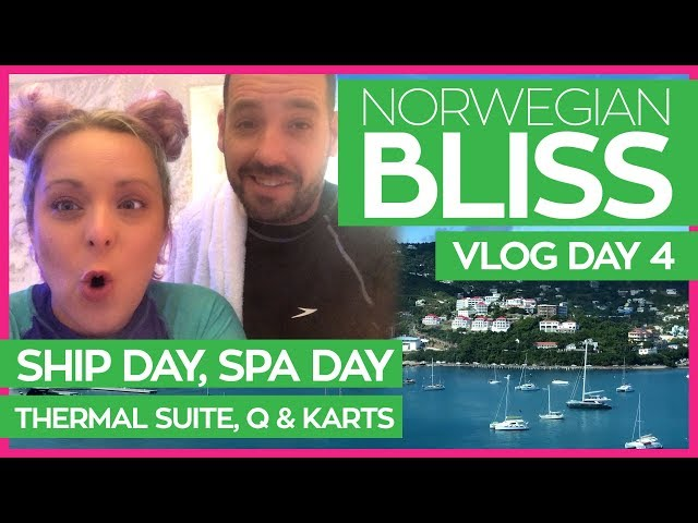 Norwegian Bliss | Thermal Suite, Q Texas Smokehouse and Go Karts | Norwegian Cruise Line Vlog Day 04