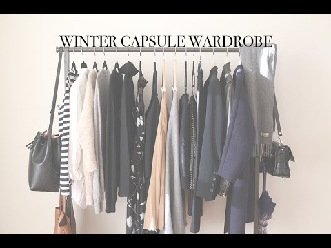 winter minimal capsule wardrobe mademoiselle youtube. Black Bedroom Furniture Sets. Home Design Ideas