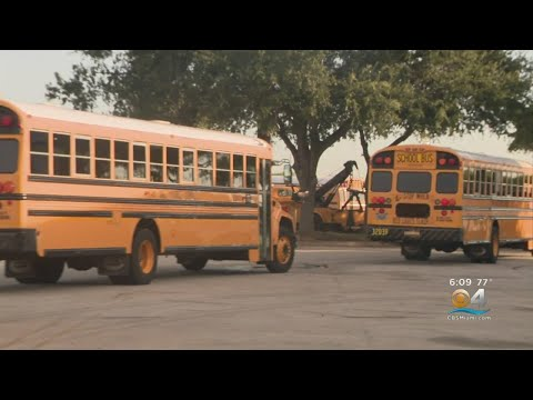 Bus Drivers Practice Routes Before Start Of Miami-Dade County School Year