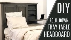 DIY: $60 Headboard with Storage and Fold Down Trays