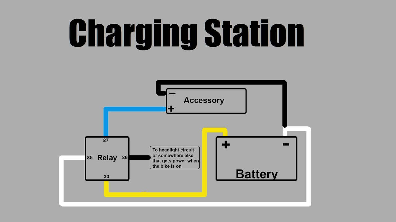2 pin led flasher relay wiring diagram kenwood wire how to install a charging system on your motorcycle - youtube