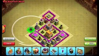 Clash of Clans Layouts - Town Hall 6 War Base 114 (Ava) with 2 Air Defenses
