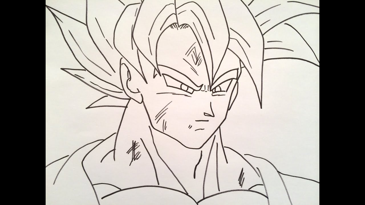 how to draw goku super saiyan youtube