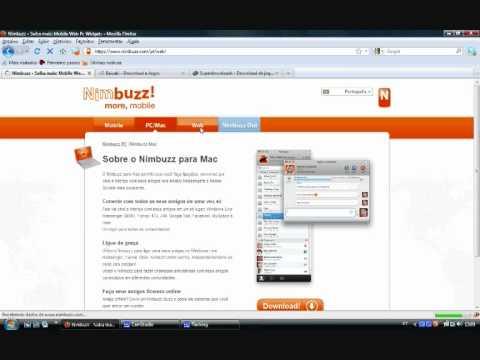 Tutorial 1 - Instalação Nimbuzz PC-MAC-Webchat.wmv