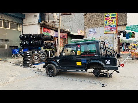 Installed A/T Tyres In My Gypsy | Modified Maruti Gypsy | Musafir's Gypsy Modified