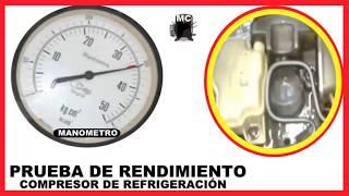 PORQUE NO ENFRÍA MI HELADERA*** PRUEBA DE RENDIMIENTO COMPRESOR DE REFRIGERACIÓN*** thumbnail