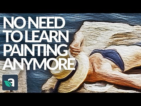 You don't have to learn to paint anymore. Painting Art Photoshop Actions