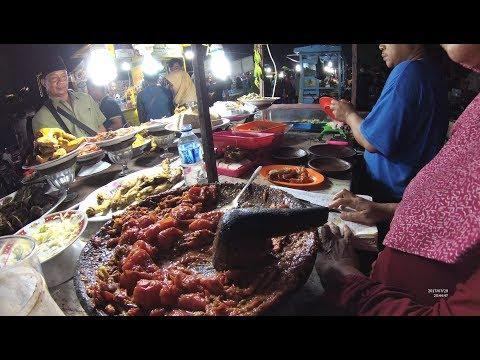 Indonesia Surabaya Street Food 1774 Part.2 Fried Shrimp Udang Goreng Lapangan Kodam Brawijaya