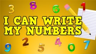 I Can Write My Numbers!  (writing numbers 0-9 for kids)