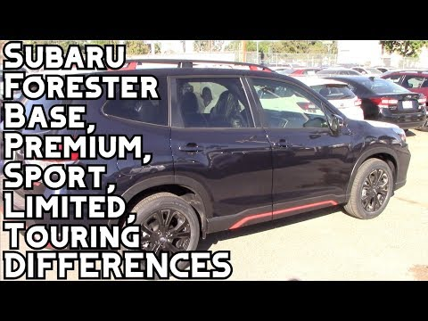 2020-subaru-forester-base,-premium,-sport,-limited,-and-touring-differences