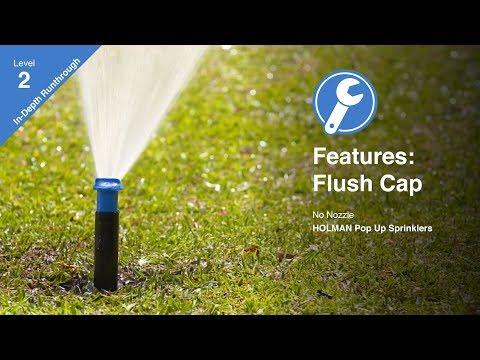 Features Of The K-Rain Flush Cap Sprinkler