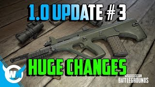 PUBG 1.0 Update #3: New Weapons - Killcam - Optimization - New UI - BATTLEGROUNDS Patch Notes