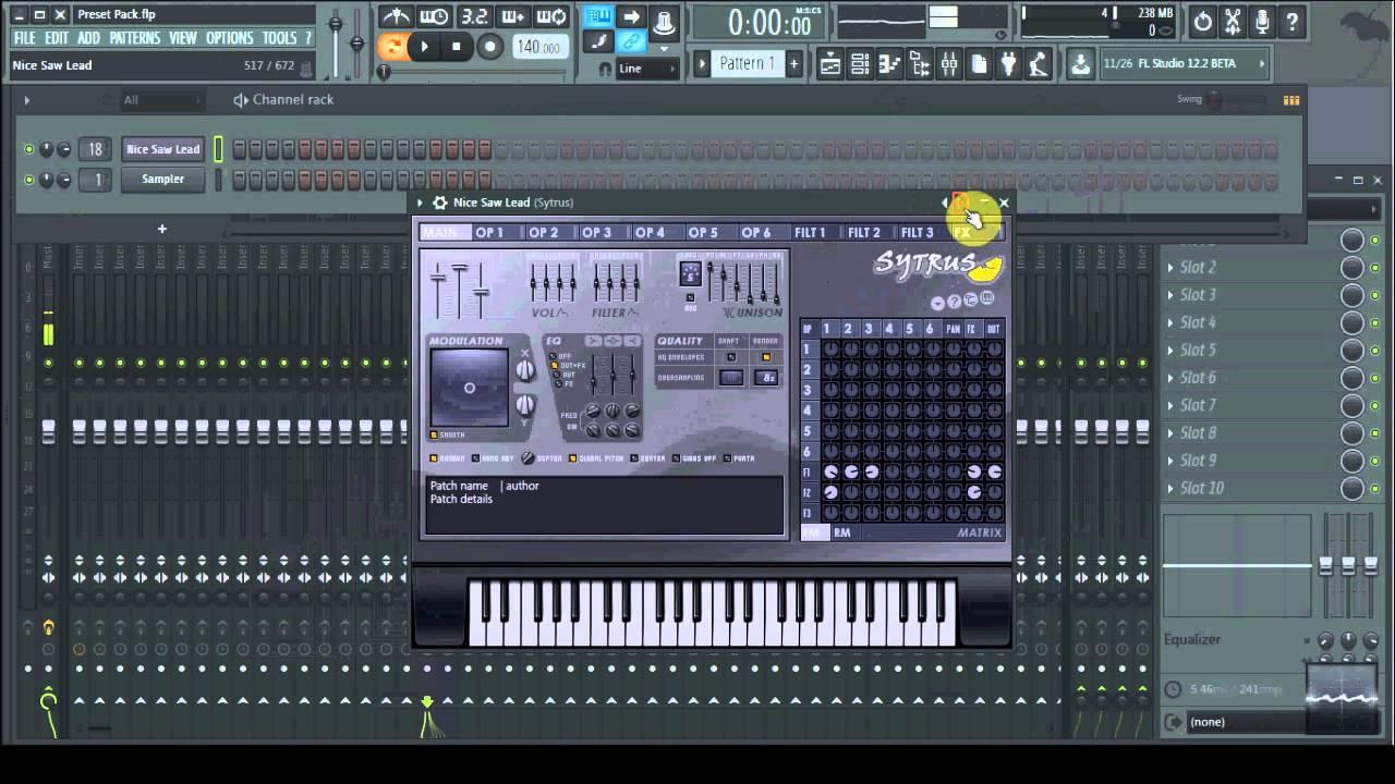 TealMist Sytrus Preset Pack 1 for FL Studio! FREE Download!