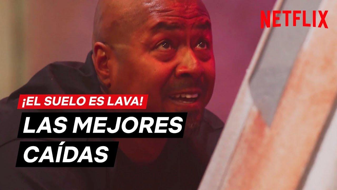 ¡El suelo es lava! | MEJORES CAÍDAS | Netflix España