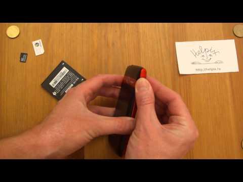 Alcatel OT-992D - Распаковка, первое включение